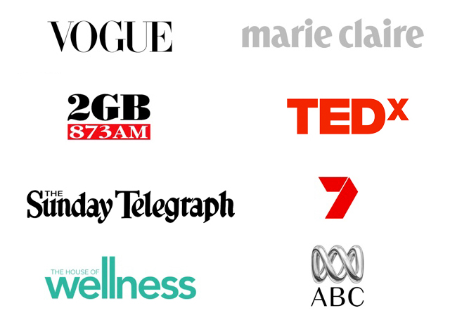 Ali has been featured in Vogue, Marie Claire, 2GB, Dolly, Talking Lifestyle, Channel 7, Wellness, ABC